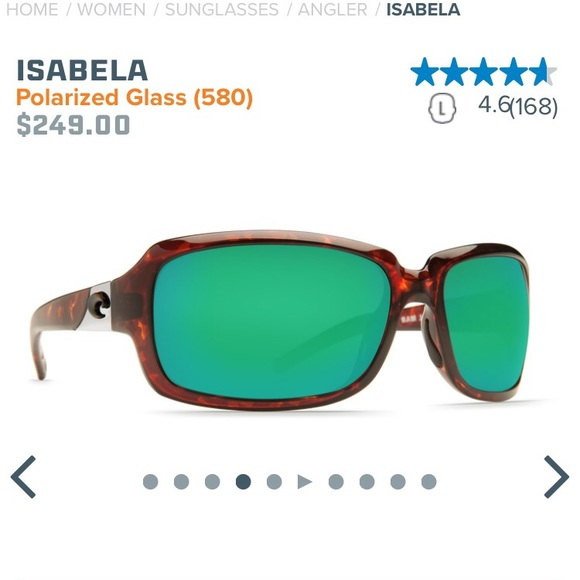 a76fb14212ff Costa Del Mar Accessories - Costa Del Mar Isabela 580G Green Mirror  Sunglasses